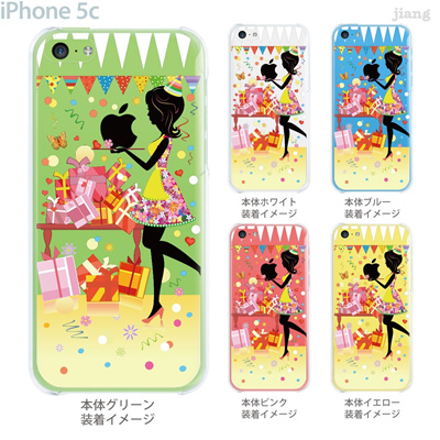 【iPhone5c】【iPhone5cケース】【iPhone5cカバー】【iPhone ケース】【クリア カバー】【スマホケース】【クリアケース】【イラスト】【クリアーアーツ】【フラワーガール】【パーティ】 01-ip5c-zec042の画像