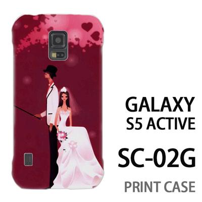 GALAXY S5 Active SC-02G 用『0621 花嫁と花婿』特殊印刷ケース【 galaxy s5 active SC-02G sc02g SC02G galaxys5 ギャラクシー ギャラクシーs5 アクティブ docomo ケース プリント カバー スマホケース スマホカバー】の画像