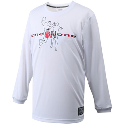 バイク(BIKE)ロングTシャツ(ワンオンワン)BK5327ホワイト【バスケットボールトレーニングウェアプラシャツ】