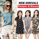 ★2015 NEW ARRIVALS★Blouse/Rompers/Jumpsuits/Loose Fit /Chiffon/Top/shirts/Dresses/Casual Dress /short sleeve Tee/short sleeve/dressabelle/shirt dress/Newest Korea Jumpsuits