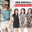 ★2015 NEW ARRIVALS★Blouse/Rompers/Jumpsuits/Loose Fit /Chiffon/Top/shirts/Dresses/Casual Dress /short sleeve Tee/short sleeve/dressabelle/shirt dress/Newest Korea Jumpsuits