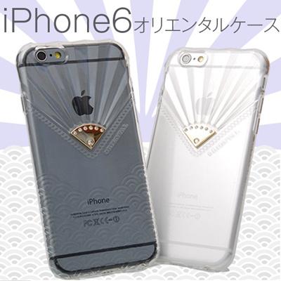 iPhone6 4.7用 オリエンタルデザイン クリアケース スマホケース 全4色の画像