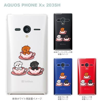 【まゆイヌ】【AQUOS PHONE Xx 203SH】【Soft Bank】【ケース】【カバー】【スマホケース】【クリアケース】【ティーカップルプードル】 26-203sh-md0027の画像