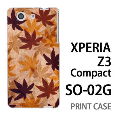 XPERIA Z3 Compact SO-02G 用『No3 カエデ』特殊印刷ケース【 xperia z3 compact so-02g so02g SO02G xperiaz3 エクスペリア エクスペリアz3 コンパクト docomo ケース プリント カバー スマホケース スマホカバー】の画像