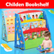78*Children Bookshelf Kids Book Shelf Shelves Case Bookshelves Bookcase Organizer Furniture Toddler Plastic Wood Rack Canvas Blue Pink Red
