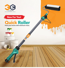 3E Quick Paint Roller / No mess no splatter / Extendable handle / No paint tray needed