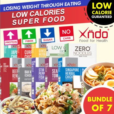[Bundle of 7 Boxes] Xndo Low Calories Super Food Deals for only S$83.65 instead of S$0