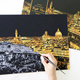 New Arrival Creative Gift Scratch Night View Night Creative Shaving Painted by Scratch Famous Cities Around the World Decompression Drawing