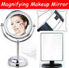 ▶Magical Magnifying Makeup Mirror◀ Double-sided magnifying LED  / Intelligence touch-Led mirror