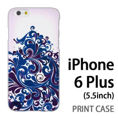 iPhone6 Plus (5.5インチ) 用『1219 海草ツリー 青紺』特殊印刷ケース【 iphone6 plus iphone アイフォン アイフォン6 プラス au docomo softbank Apple ケース プリント カバー スマホケース スマホカバー 】の画像