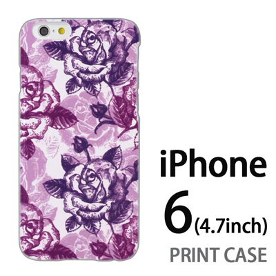 iPhone6 (4.7インチ) 用『0113 たくさんの薔薇 紫』特殊印刷ケース【 iphone6 iphone アイフォン アイフォン6 au docomo softbank Apple ケース プリント カバー スマホケース スマホカバー 】の画像