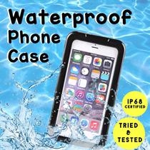 ★ NEW ★ Waterproof Phone Case  | IP68 Certified | Models available for iPhone and Samsung | Tried and Tested!