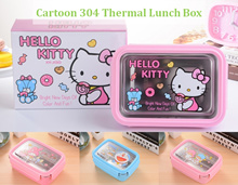 💖 Hello Kitty 304 Thermal Storage Lunch Box 💖 Melody/ Twin Star/ Tsum Tsum/ Doraemon 💖