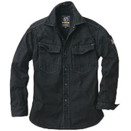 イーブンリバー(EVENRIVER) フィッシャーストライプシャツ US-1106 ブラック メンズ レディース ワークウエア ワーキングウエア 作業着 カジュアル 【トップス 上着 ワークシャツ】
