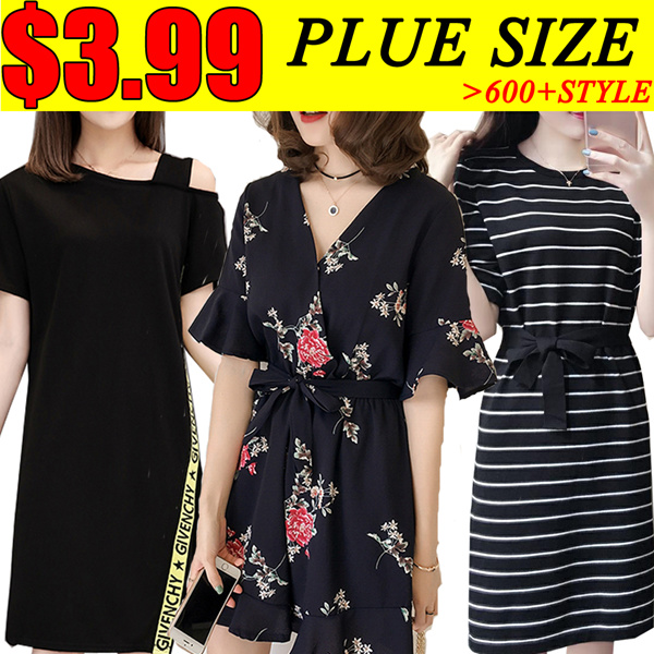 ?13th update?PLUS SIZE Summer/pants/Suit/shirt/Tops/Large size dress/Europe/Korean clothing Deals for only S$19 instead of S$0