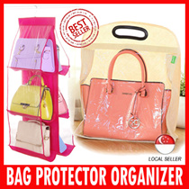 Dust-Free Handbag Protectors With Visible Window / Hanger / Holders / Bag Organizer/ Best Storage Space Saver / Neat/ Tidy Wardrobe/ Present and gifts for Christmas Birthday Corporate Church Door Gift