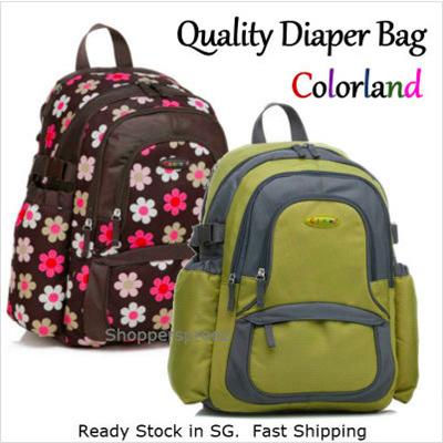 qoo10 new smart baby changing diaper bag backpack colorland bp043 kids mumm. Black Bedroom Furniture Sets. Home Design Ideas