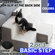 【ROOMNHOME】 Basic 2 3 pet Step Pets Stair Staircase Dog Doggy Puppy Cat Zipper Removable Washable
