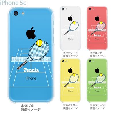 【iPhone5c】【iPhone5c ケース】【iPhone5c カバー】【ケース】【カバー】【スマホケース】【クリアケース】【クリアーアーツ】【テニス】 10-ip5c-ca0062の画像