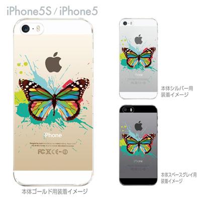 【iPhone5S】【iPhone5】【iPhone5sケース】【iPhone5ケース】【カバー】【スマホケース】【クリアケース】【フラワー】【花と蝶】 06-ip5s-ca0088の画像