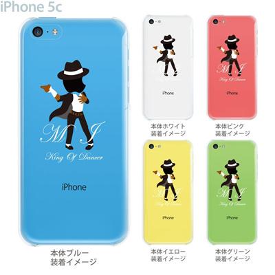 【iPhone5c】【iPhone5cケース】【iPhone5cカバー】【クリア ケース】【iPhone】【カバー】【スマホケース】【クリアケース】【イラスト】【クリアーアーツ】【M.J King of Dancer】 10-ip5cp-ca0048の画像