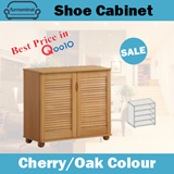 SALE! Furnominal.22NS / Shoes Cabinet / Cherry / Oak Colour