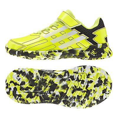 アディダス (adidas) ジュニア アディダスファイト EL K(ソーラーイエロー×ランニングホワイト×コアブラック) B24093 [分類:キッズ・子供靴 スニーカー]の画像