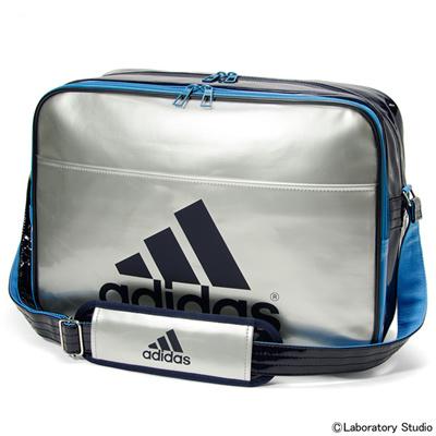 アディダス (adidas) エナメルショルダー L(シルバーメット×ソーラーブルーS14×カレッジネイビー) Z7679-S92810 [分類:エナメルバッグ (大型)] 送料無料の画像
