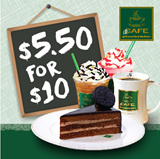 [dr.CAFE COFFEE] $5.50 for $10 worth of Cash Voucher for all Food and Beverage Menu items! Redeem at 7 Outlets Daily All Day! Halal-Certified Coffee Chain