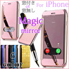 【国内発送/送無】マジックミラー 鏡面 iPhone6s ケース iPhone SE iPhone6 Plus カバー iPhone 6 Plus iPhone6s iPhone6  手帳型 マジックミラー 鏡面  きらきら  輝く 反射 ローズゴールド スワイプ