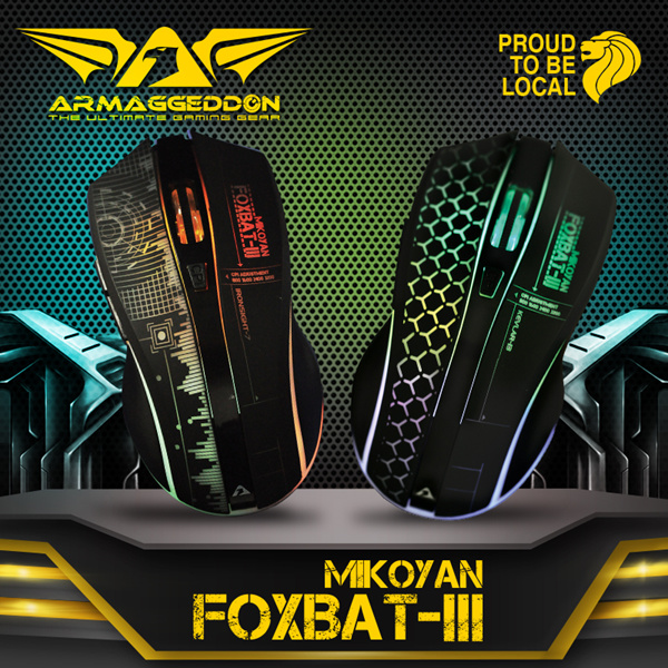 MIKOYAN Foxbat III 2.4Ghz Wireless Gaming Mouse | 7 Colour Lighting w Pulsating EFX | 6 Programmable Buttons Deals for only S$39.9 instead of S$0