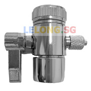 1 Way Faucet Tap Adapter 1 Way Faucet Tap Diverter compatible with 1/4 inches tube hose size Kitchen Tap connector Spare Part