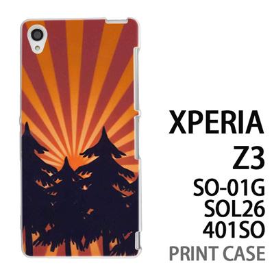 XPERIA Z3 SO-01G SOL26 401SO 用『No4 日光林』特殊印刷ケース【 xperia z3 so01g so-01g SO01G sol26 401so docomo au softbank エクスペリア エクスペリアz3 ケース プリント カバー スマホケース スマホカバー】の画像