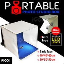[ BEST BUY ]  Foldable Photo Studio Box 40x40 / 50x50 / Mini  📷 Built-in LED LIGHTS ☚