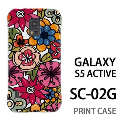 GALAXY S5 Active SC-02G 用『0618 トロピカルフラワー』特殊印刷ケース【 galaxy s5 active SC-02G sc02g SC02G galaxys5 ギャラクシー ギャラクシーs5 アクティブ docomo ケース プリント カバー スマホケース スマホカバー】の画像