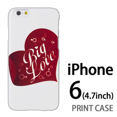 iPhone6 (4.7インチ) 用『0113 ビッグラブ 白』特殊印刷ケース【 iphone6 iphone アイフォン アイフォン6 au docomo softbank Apple ケース プリント カバー スマホケース スマホカバー 】の画像
