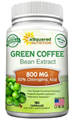 (aSquared Nutrition) 100% Pure Green Coffee Bean Extract - 180 Capsules - Max Strength Natural GC... (Green Coffee Bean Extract) (Resveratrol) (Garcinia Cambogia) (Pack of 1) (Pa