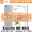 [NO.1 BEST SELLER! CNY SALE!] Xiaomi Mi Max 3GBRAM+32GB / 4GBRAM+128GB//Fingerprint Identification/6.44 Inch/16MP Camera /Snapdragon 650 Hexa-core Adreno 510 4850mAh Mobile Phone (GOLD) Buy and Collec