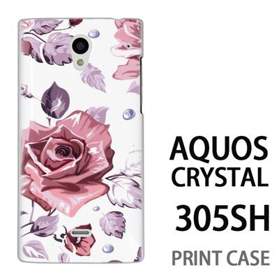 AQUOS CRYSTAL 305SH 用『0618 昼のピンクバラ』特殊印刷ケース【 aquos crystal 305sh アクオス クリスタル アクオスクリスタル softbank ケース プリント カバー スマホケース スマホカバー 】の画像