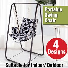 Indoor/Outdoor Portable Swing Chair Cotton Hammock come with premium metal rod new in singapore DIY set [FREE Delivery] [BEST Mother Day Gift]