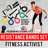 ★★Premium Malaysia Latex★★Complete Resistance Elastic Tube Bands Set★★Fitness Activist★★Stock posted from SG★★Cheap and Fast★★