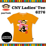 [Paul Frank] Celebrate CNY 2016 Monkey Year with Paul Frank Ladies Tee/Style 6276/Orange color. Size XS-L available. Free Qxpress Shipping/Store Pickup. 100% Authentic!