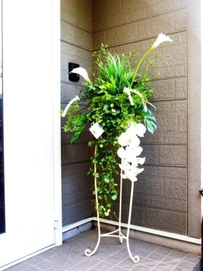 ●代引き不可送料無料インテリアグリーンアレンジメント造花の画像