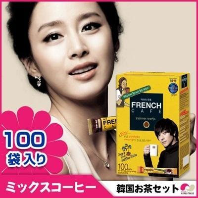 【韓国お茶セット7】フレンチカフェ FRENCH CAFE Coffee Mix 100個入の画像