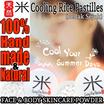 Cooling Rice Pastilles   Bedak Sejuk - 100% Handmade and Natural Face   Body Skincare Powder