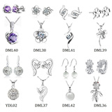 [FLAT PRICE] 2015 BEST JEWELRY SET Women Crystal Necklace Jewelry Set Cheap Costume Wedding Jewelry Sets for Brides Necklace Earrings Heart Flower Animal