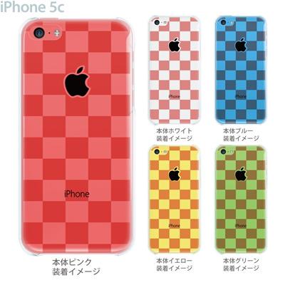 【iPhone5c】【iPhone5cケース】【iPhone5cカバー】【ケース】【カバー】【スマホケース】【クリアケース】【チェック・ボーダー・ドット】【ボックス・レッド】 06-ip5c-ca0142の画像