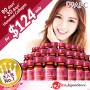 AFC Tsubaki Ageless Collagen Drink 90days+30days Hanamai [IMPORTED FROM JAPAN]
