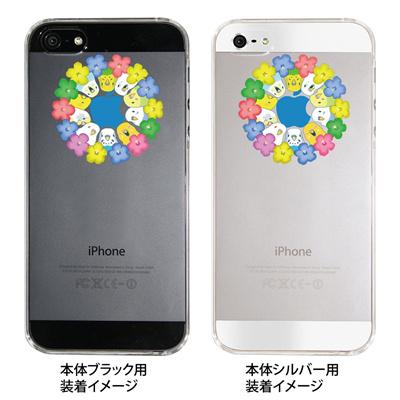 【iPhone5S】【iPhone5】【まゆイヌ】【Clear Arts】【iPhone5ケース】【カバー】【スマホケース】【クリアケース】【セキセイインコの輪】 26-ip5-md0006の画像