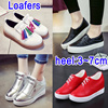 Loafers platform heels Unisex casual shoes/easy flats/breathable canvas shoes/sports shoes/great bargain/hidden height /easy-matching jelly shoes slimming shoes shoes women men shoes sandals slippers